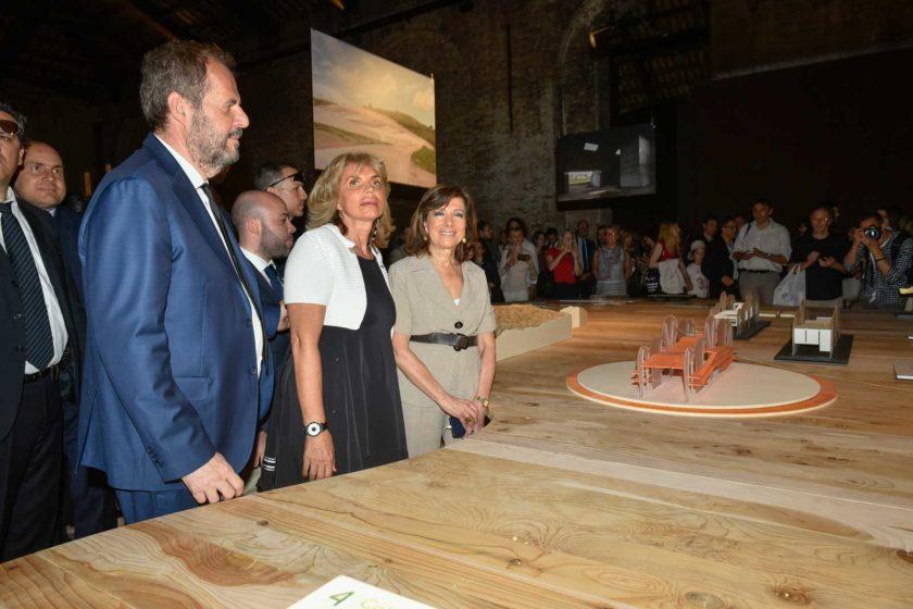 Inauguration of Padiglione Italia at Biennale di Architettura 2018  Mario Cucinella